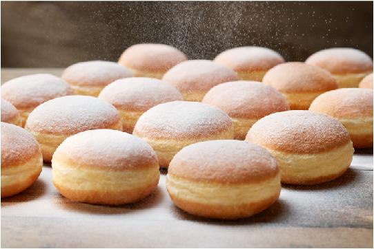 Backwaren Kuchen-Peter. Großbäckerei, Bio Backwaren, palmölfrei. Krapfen, Brot, Gebäck, Semmelwürfel- und Brösel.